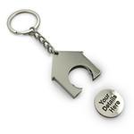Einkaufswagen Schlüsselanhänger in Hausform 35x39x4mm mit individuellem Logo image