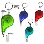 Individuell bedruckbares Maßband mit Schlüsselring und Stift image